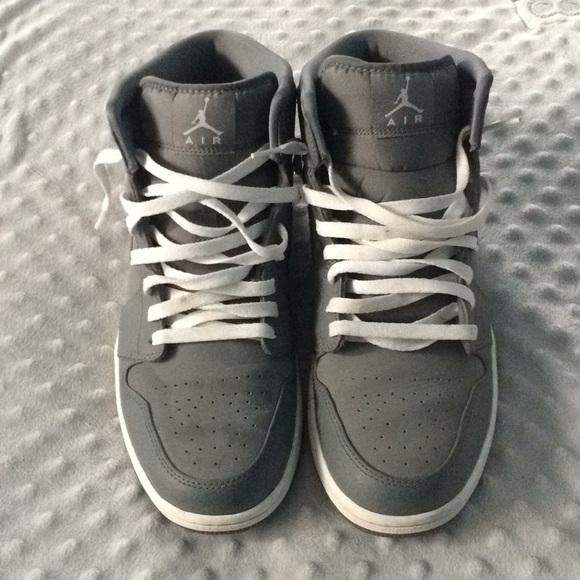 cd274f5807b Jordan Shoes | Air Mid Rise Wolf Gray Sneakers | Poshmark